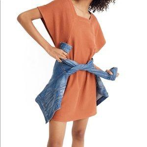 Madewell Texture & Thread Square Neck Dress